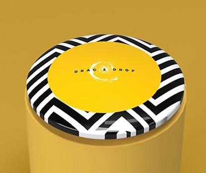 impresion para Pegatina de resina circular